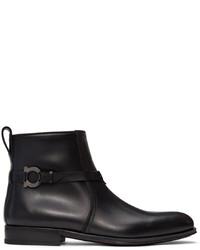 Salvatore Ferragamo Black Perpignan Boots
