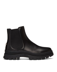 Neil Barrett Black Pierced Punk Chelsea Boots