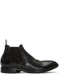 Officine Creative Black Princeton Chelsea Boots