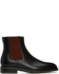 Paul Smith Black Red Canon Chelsea Boots