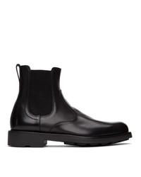 Salvatore Ferragamo Black Roomie Chelsea Boots