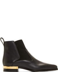 Chloé Black Sesame Leather Pointed Chelsea Boots