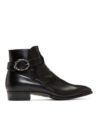 Gucci Black Side Guccy Plata Boots