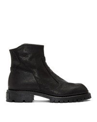 Julius Black Slash Zip Boots