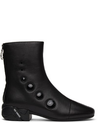 Raf Simons Black Solaris 21 High Zip Up Boots