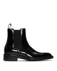 AMI Alexandre Mattiussi Black Spazzo Chelsea Boots
