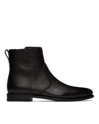 Salvatore Ferragamo Black Spider Chelsea Boots