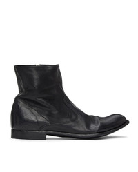 Officine Creative Black Stereo 2 Boots