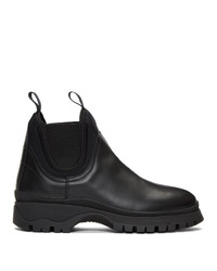 Prada Black Tonal Chelsea Boots