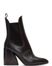 Chloé Black Wave Chelsea Boots