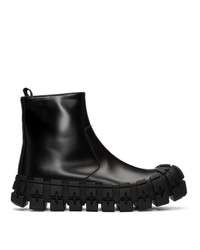 Prada Black Wheel Sole Zip Boots