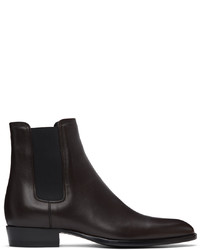 Saint Laurent Brown Wyatt Chelsea Boots