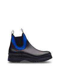 Prada Colour Block Ankle Boots