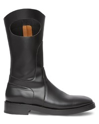 Burberry Cut Out Detail Panelled Boots