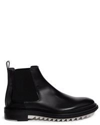 Lanvin Gumlite Shark Tooth Sole Leather Chelsea Boots