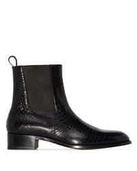 Tom Ford Herbert Alligator Effect Ankle Boots