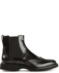 e8d71520bfc7a Men s Black Chelsea Boots by Hogan
