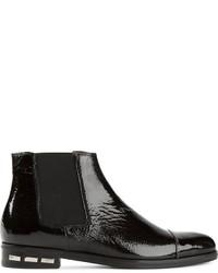 Lanvin Patent Chelsea Style Boots