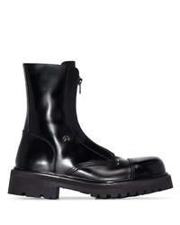 Vetements Leather Combat Boots