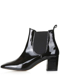 Topshop Mary 60s Patent Chelsea Boots