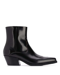 Off-White Paperclip Square Toe Ankle Boots