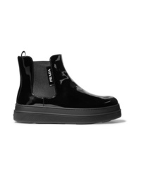 Prada Patent Leather Chelsea Boots