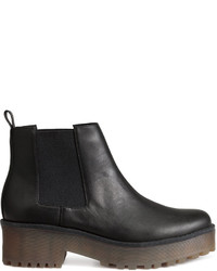 H&M Platform Chelsea Boots Black Ladies