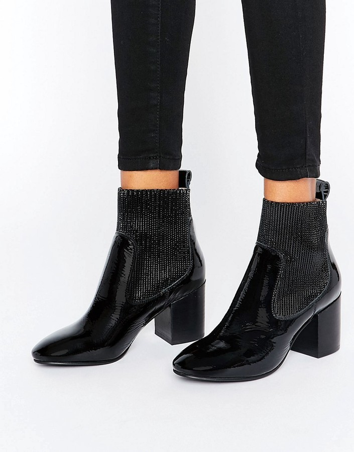 af1e077cb2e8 ... Black Leather Chelsea Boots Asos Represent Premium Leather Patent Chelsea  Ankle Boots ...