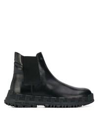 Versace Ridged Sole Chelsea Boots