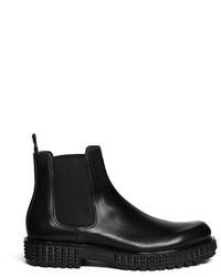 Valentino Rockstud Tread Sole Leather Chelsea Boots