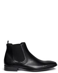 Rolando Sturlini Parma Medallion Leather Chelsea Boots