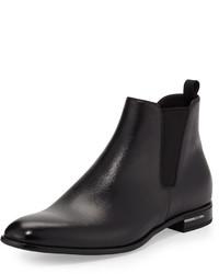 Saffiano leather chelsea boot black medium 584607