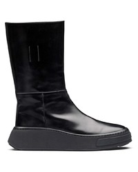 Prada Slip On Leather Boots