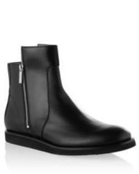 Hugo Boss Spelto Leather Zipper Chelsea Boot 8 Black