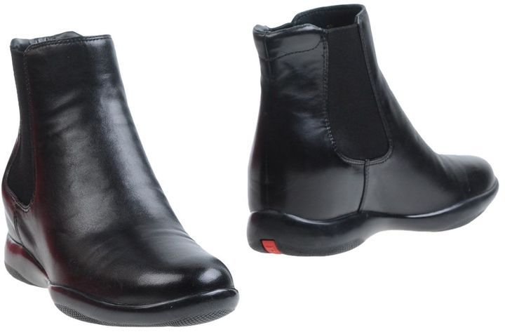 Buy Online New Order Cheap Online Leather ankle boots Prada 1S7AuyCA