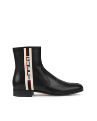 Gucci Stripe Leather Boots