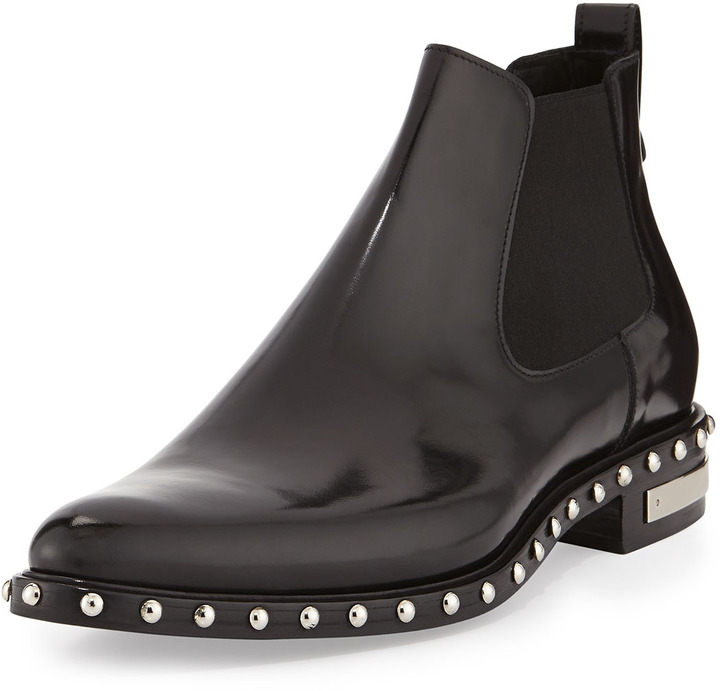 80c3edfd73f $1,250, Givenchy Studded Leather Chelsea Boot Black
