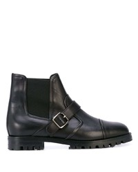 Manolo Blahnik Traba Buckled Ankle Boots