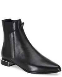Kenzo Uni Flat Leather Chelsea Booties