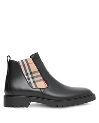 Burberry Vintage Check Detail Chelsea Boots