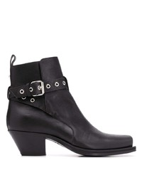 Versace Wrap Around Strap Ankle Boots