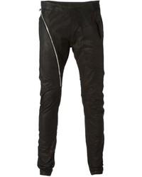 Asymmetric zip skinny trousers medium 329622