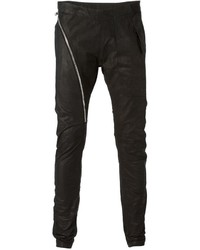 Rick owens asymmetric zip skinny trousers medium 329622