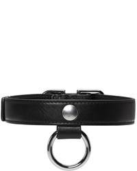 Carven Black Leather Buckle Choker