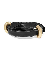 Ellery Bre Leather And Gold Tone Choker