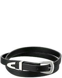 Steve Madden Leather Wrap Around Choker Necklace