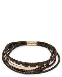 Givenchy Multi Row Braided Leather Choker