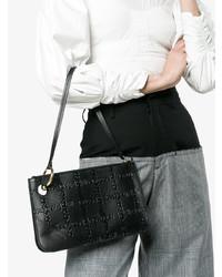 JW Anderson Black Pierce Logo Embossed Leather Clutch