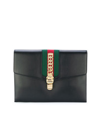 b46114fa85d Gucci Black Sylvie Maxi Leather Clutch Bag Gucci Black Sylvie Maxi Leather  Clutch Bag  2