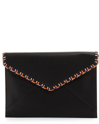 Rebecca Minkoff Chase Leo Leather Envelope Clutch Bag